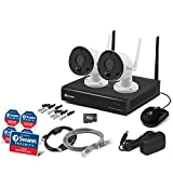 Swann Wi-Fi 4 Channel 1080p Security Camera Kit, NVW-490 and 2 x 4K