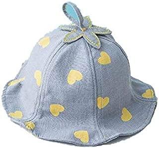 Baby Summer Outdoor Bucket Hat Children Floral Print Sun Beach Cap Lovely Lace Baby Girl Brim
