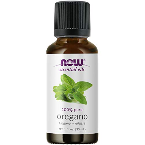 NOW Essential Oils, Oregano Oil, Comforting Aromatherapy Scent, Steam Distilled, 100% Pure, Vegan, Child Resistant Cap, 1-Ounce