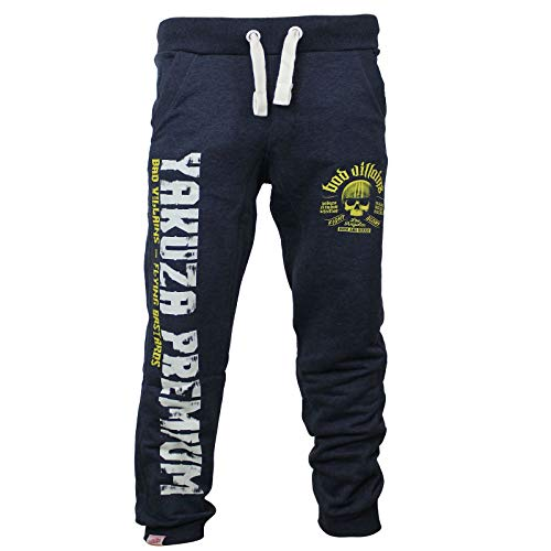 Yakuza Premium Herren Jogginghose 2850 blau meliert Sweatpants Größe XL