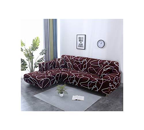 Lionel Philip Ecksofa Abdeckungen für Haustiere Sofa-Abdeckung Elastic für Wohnzimmer Slipcovers Stretch Polyester Loveseat Couch Cover, Farbe 5, Dreisitz 195-230Cm