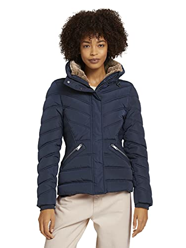 TOM TAILOR 1029460 Puffer Giacca, 10668-Sky Captain Blue, L Donna