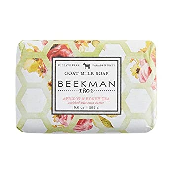 Beekman 1802 - Goat Milk Bar Soap - Apricot Honey Tea - Moisturizing Triple Milled Soap - Naturally Rich in Lactic Acid & Vitamins Great for All Skin Types - Cruelty-Free Bodycare - 9 oz