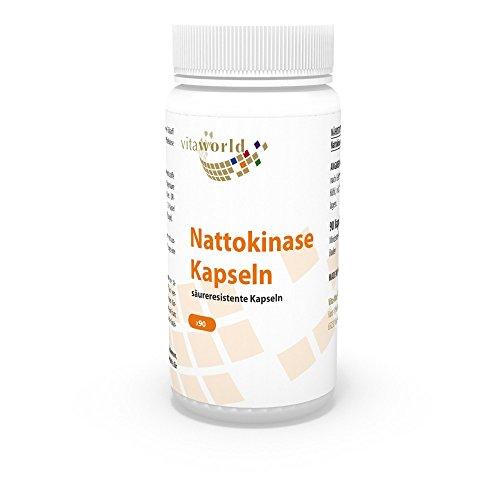 Nattokinase, Nattokinasa Natto 90 Cápsulas Vita World Farmacia Alemania