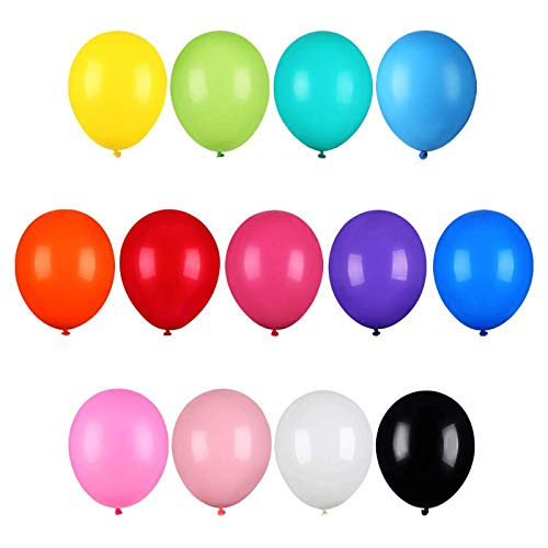 HEHALI 126Pcs Balloons 12 Inches 13 Colors of Rainbow Party Latex Balloons, for Party Decoration, Birthday Party Supplies or Arch Decoration