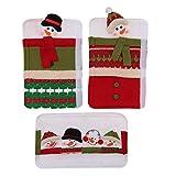 Sweo 3 Stück Schneemann-Griffabdeckungen für Küchengeräte für Weihnachten.