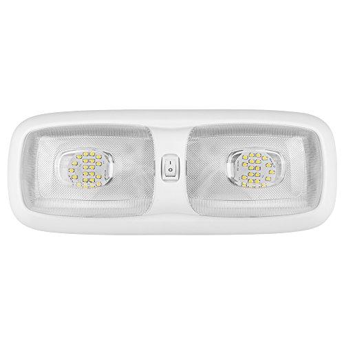 Lumitronics RV LED Euro-Style Double Ceiling Dome Light