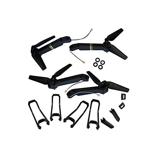 YXYX Accessori droni RC Drone Quadcopter E58 Accessori di Ricambio per E58 WiFi FPV Braccio Clip per Elica Guardie Lame Clip Morsetto Atterraggio Skid Geas (Color : Arms Guards Landing)