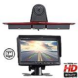 """Videocamera posteriore a colori HD per la sostituzione dell'originale 3. Luce del freno sul bordo del tetto con monitor da 7.0"""" per Mercedes Benz Transporter Sprinter W906 1500 2500/VW Crafter"""