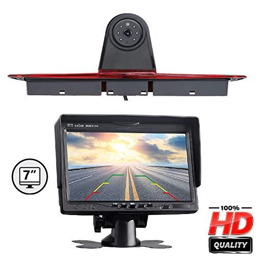 """HD Farb-Rückfahrkamera zum Austausch der originalen 3. Bremsleuchte an der Dachkante mit 7.0\"""" Monitor Rückfahrvideosystem für Mercedes Benz Transporter Sprinter W906 1500 2500/ VW Crafter"""
