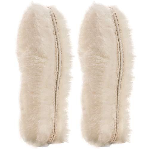 [ 2 Paar ]Australischen Schaffell Einlegesohlen Super Dick Premium fur Stiefel Schuhe| Robust & Extra flauschige Premium Schafwolle Einlegesohlen ([ 2 Paar ]EU 44)