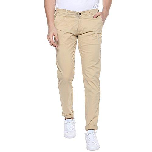 Urbano Fashion Men's Slim Fit Casual Trouser (chino-cream-34-01_Cream _34)