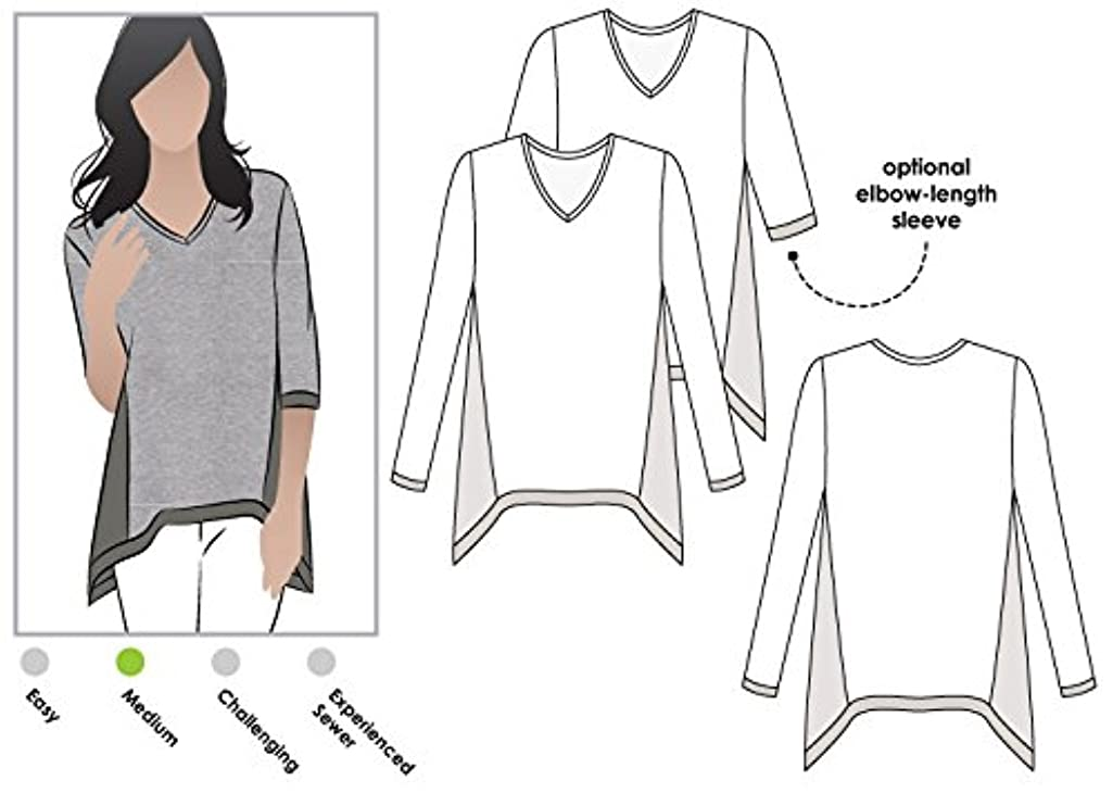 Style Arc Sewing Pattern - Bianca Top (Sizes 18-30) - Click for Other Sizes Available
