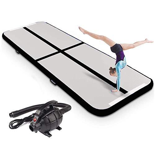 XLH 2M-6M Inflatable Gymnastikmatte Air Track Tumbling-Matte mit Pumpe Luftboden Praxis Gymnastik Cheer Tumbling Kampfsport für den Heimgebrauch, Strand, Park,4 * 1 * 0.2M