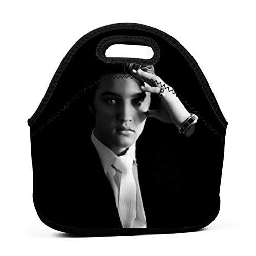 MaoMaoYongHui E-lvis Pr-esley Personalisierte wiederverwendbare Lunch-Tasche Handtasche für Kinder Reißverschluss für die Schultasche