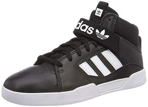 Adidas Vrx Mid, Zapatillas de Skateboarding Hombre, Negro (Negbás/Ftwbla/Ftwbla 000), 39 1/3 EU