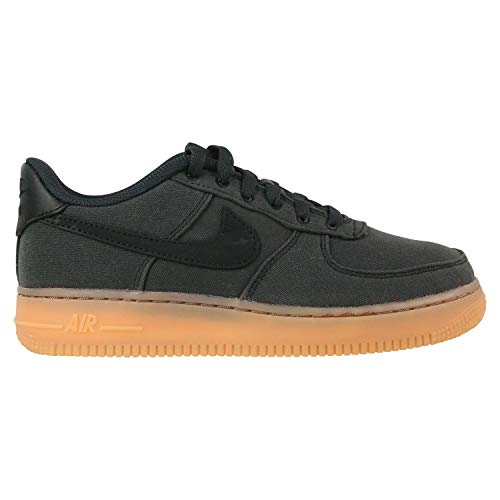 Nike Air Force 1 LV8 Style (GS), Zapatillas de Deporte para Niños, Multicolor (Black/Black/Gum Med Brown/Black 001), 35 2/3 EU