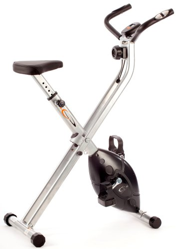 V-Fit MXC1 Vélo d'appartement magnétique et pliable avec cadre en X