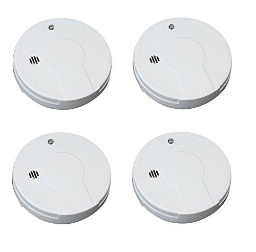 Kidde i9050 Battery Operated Smoke Alarm, White (4 SMOKE ALARMS)