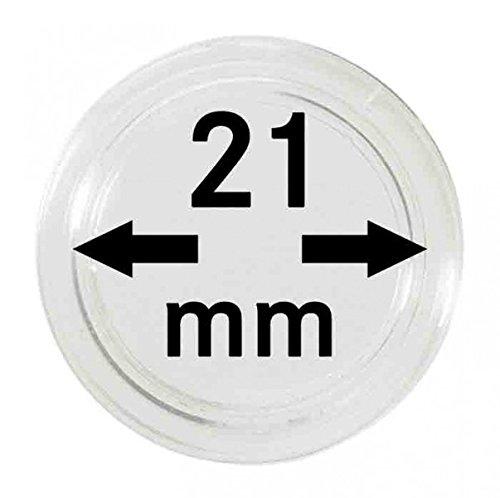 LINDNER Das Original Capsules Monnaies Ø intérieur 21 mm, Paquet de 10