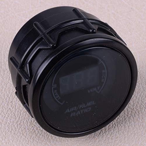 U/D HKRSTSXJ Car 2' 52MM Round LED Digital Air Fuel Ratio Monitor Racing Gauge Meter for Oxygen Sensor