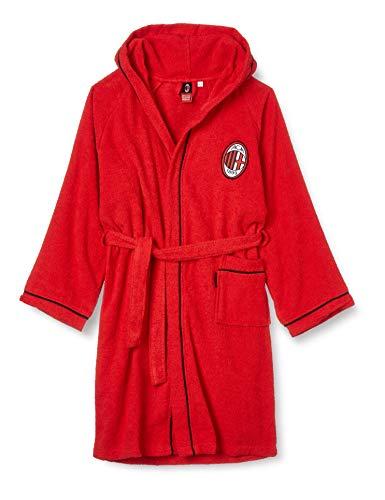 Milan 9634 030 2110 - Albornoz de baño, 100% algodón, rojo, 12-14 años