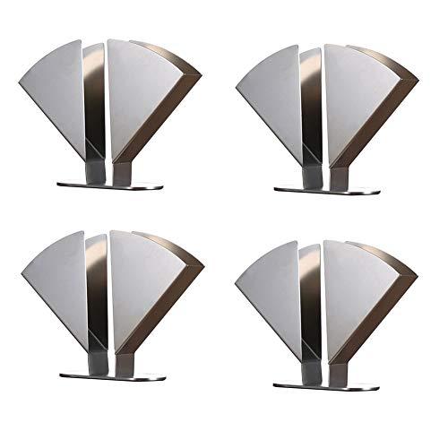 Aprilhp Fächerförmiger Serviettenhalter aus Edelstahl für Tisch Arrangements, Kommerziell Creative Vertikaler Servietten Halter aus Metall, Elegant und Stabil, ist Platzsparend, 4pack
