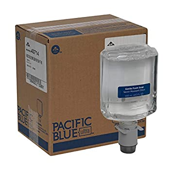 Pacific Blue Ultra Gentle Foam Hand Soap Refills for Manual Dispensers by GP PRO  Georgia-Pacific  Dye and Fragrance Free 43714 1,200 mL Per Bottle 4 Bottles Per Case