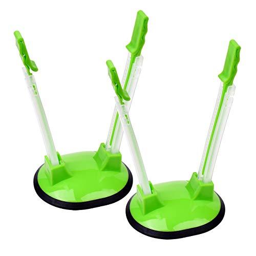 Lanyifang 2pcs Hände frei Baggy Rack Storage Bag Opener Holder Beutelöffner Taschenhalter Taschenregale Grün