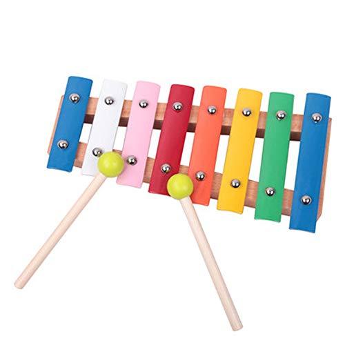 WJS Kinder pädagogische Xylophon Acht-Ton Hand Klopfen Klavier Kleinkind Baby Musik Spielzeug