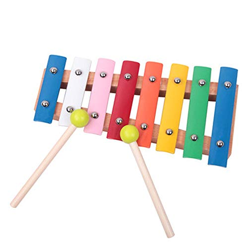 Best Prices! QXX Children's Educational Xylophone Eight-Tone Hand Knocking Piano Infant Baby Music T...