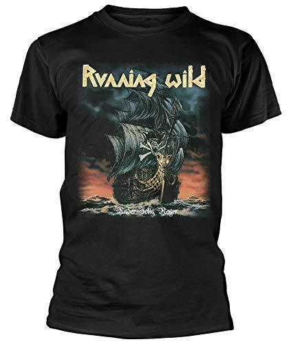 Running Wild 'Under Jolly Roger Album' (Black) T Shirt New Black XXL