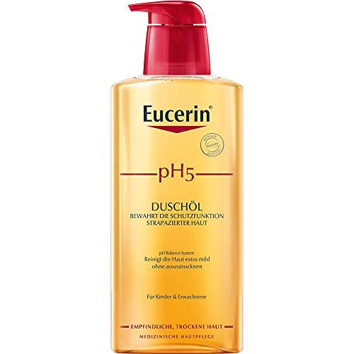 Eucerin pH5 Duschgel bewahrt die Schutzfunktion strapazierter Haut, 400 ml Gel