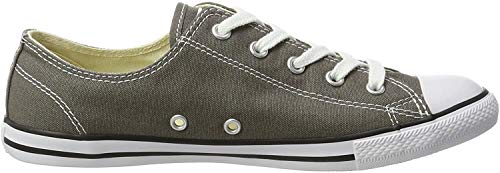 Converse Damen All Star Dainty Ox Sneaker, Braun (Charcoal 010), 38.5 EU