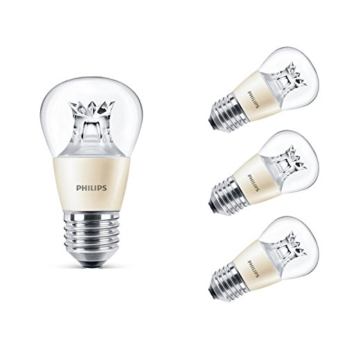 Philips Master LED-Leuchtmittel, 6W (40W Ersatz), Golfball-Form, dimmbar, E27Edison-Schraube, New Pack of 4, E27 (Edison Screw)