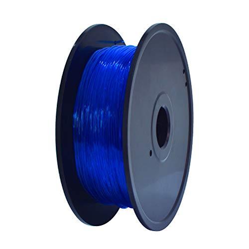 GEEETECH TPU Filamento flexible 1.75mm Azul, Impresora 3D Filamento 400g 1 Carrete