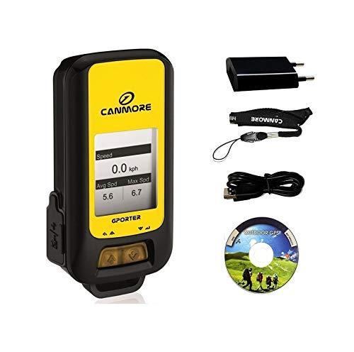 G-PORTER GP-102+ GPS- Multifunktionsgerät (gelb) - Set mit 110-240V 1A Universal Netzteil