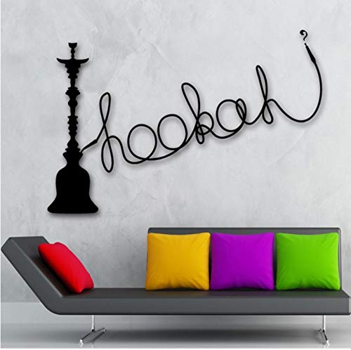 Hookah Wall Stickers Shisha Vinyl Culture Arabic Smoking Decoration 42x68cm