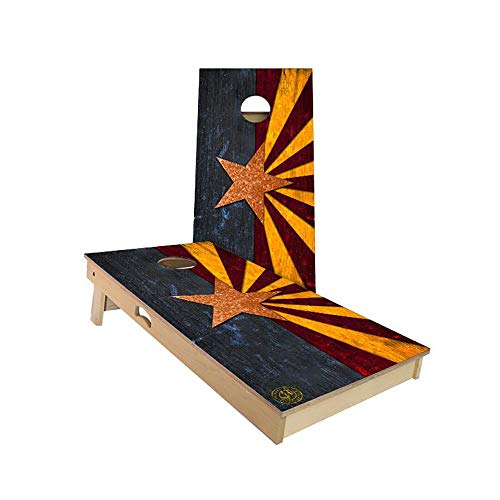 Rustic State Flag Cornhole Boards Sets by Slick Woody's Cornhole Company