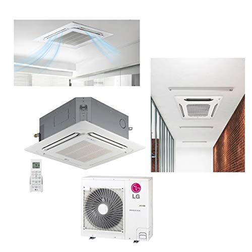 LG 12,000 BTU SEER 19 Ceiling Cassette Ductless Mini-Split Inverter Heat Pump System Energy Star