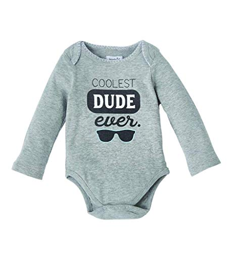 Mud Pie Baby Boutique Really Boy Crawler, 0-6 Months, Coolest Dude Ever