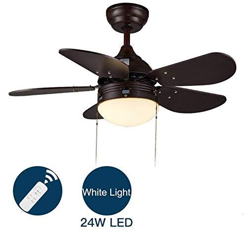 WLP-WF Ventilador Simple Y de Techo con Luz Led de 5 Aspas Ventilador Eléctrico de Perfil Bajo para Dormitorio Restaurante Habitación para Niños Summer Breeze Montaje Empotrado Lámpara de Techo Inter