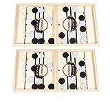 Nobranded 2X Grandes Y Rápidos Sling Puck Game Tabletop Foosball Winner Game Hockey Board Toys