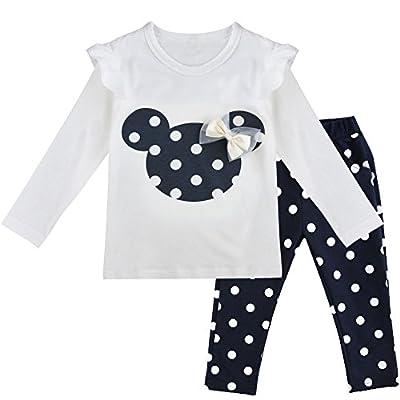 IEFIEL Conjuntos de Top y Pantalones Largos Camiseta Unicornios+Leggings para Niña Bebé Pijamas Cómodas de Algodón Ropa de Dormir Azul Oscuro A 3 años