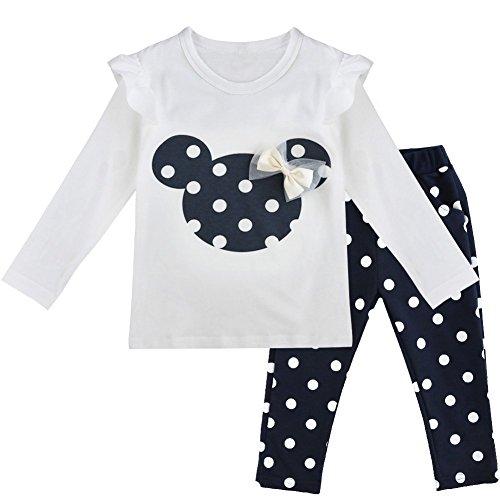 IEFIEL Conjuntos de Top y Pantalones Largos Camiseta Unicornios+Leggings para Niña Bebé Pijamas Cómodas de Algodón Ropa de Dormir Azul Oscuro A 12-18 Meses