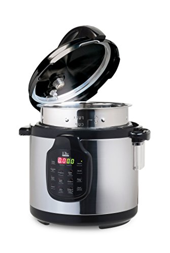 Elite Platinum 11-in-1 Electric Pressure Cooker, Slow Cooker, with 6Qt. Tri-ply Stainless Steel Inner Pot - Includes Accessories