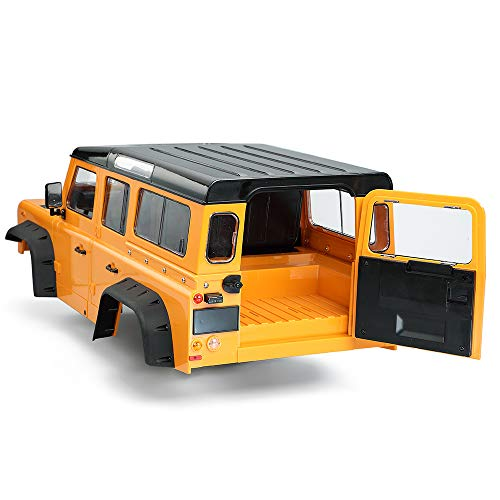 ACHICOO 313 mm 12,3 Zoll Radstand D110 Defender Karosserie, rotfarbige Simulation Autoteile für 1/10 Raupenwagen Traxxas TRX4 Axial SCX10 90046 Orange