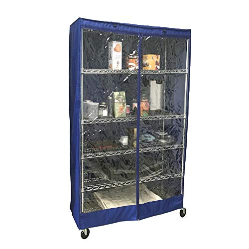 Formosa Covers Storage Shelving Unit Cover, fits Racks 36' Wx18 Dx72 H Royal, one Side See Through Panel (Cover Only)