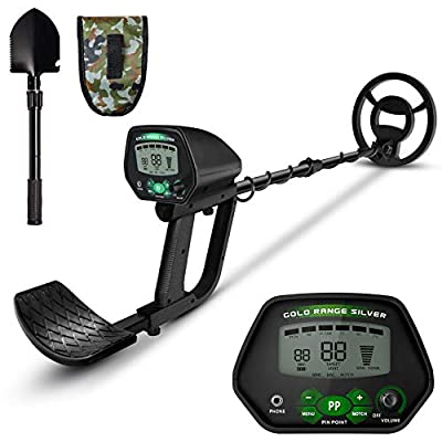 Wooce Metal Detector for Kids, High Accuracy Gold Detector for Adults, 8 Kinds of Sensitivity Covering All Metals for Pinpoint Detecting Gold Coin, Underwater Beach Treasures Hunting