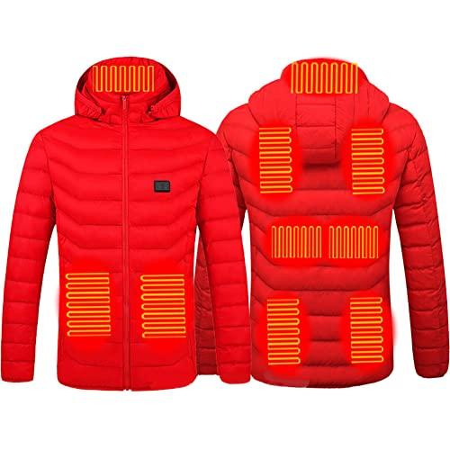 Chaqueta térmica para hombre, chaqueta de esquí con tres modos de calefacción para clima frío para mujer